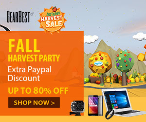 Gearbest Autumn Bumper Harvest promotion